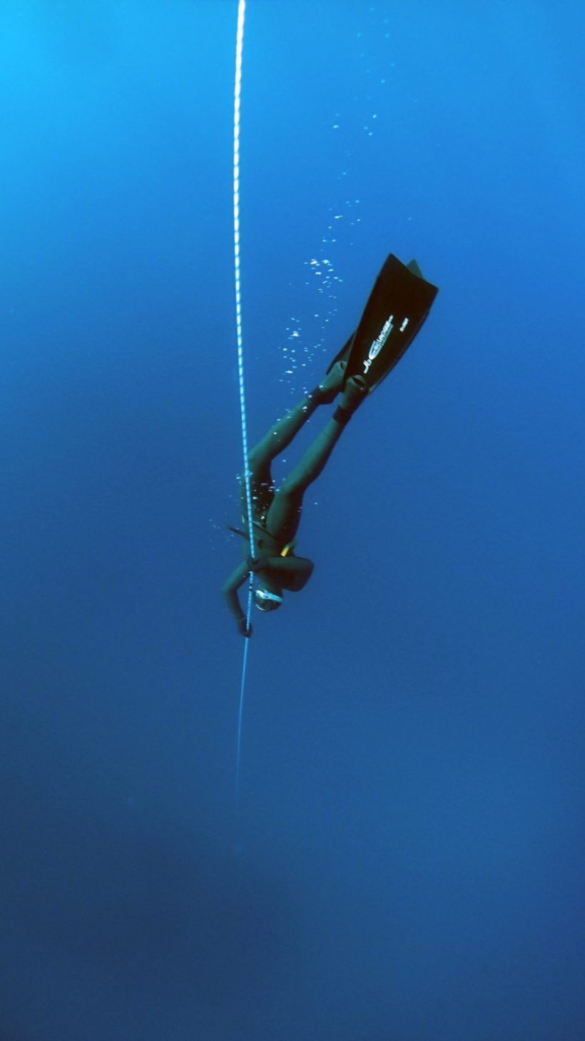 Apnoetauchen am Seil