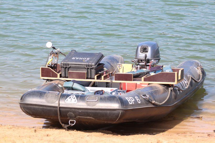 Schlauchboot zum Tauchen